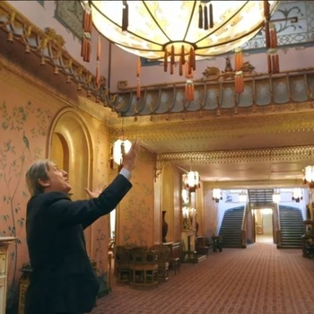 Andrew Graham-Dixon in the interior of Brighton Pavilion