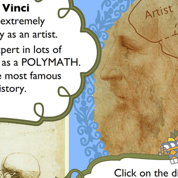 Inside the amazing mind of Leonardo da Vinci: Children's activity banner