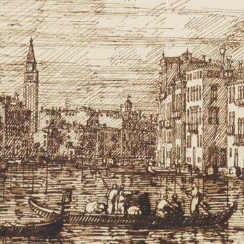 Drawing of the lower section of the Grand Canal, Venice