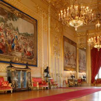 A view of a State Room at Windsor Castle