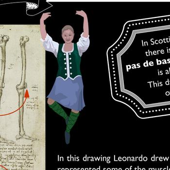 The dancing skeleton: Children's activity banner