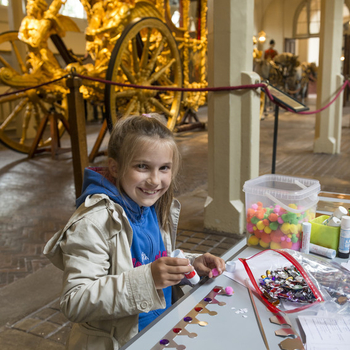 Child crafting in the Royal Mews