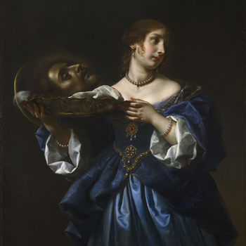 Painting of Salome with the Head of John the Baptist