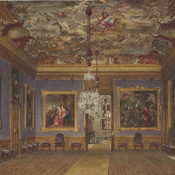 Drawing of an interior at Windsor Castle