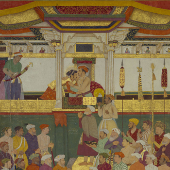 Mughal painting from the Royal Library's Padshahnama manuscript