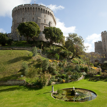 Photograph of the Moat Garden, Windsor Castle