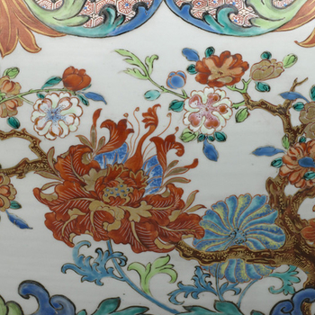 Close up detail from a Chinese porcelain jardiniere