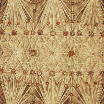 Photograph of bosses on the ceiling of St George's Chapel