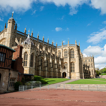 A view of St George's Chapel at Windsor Castle