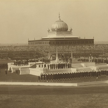 Panoramic view of the Delhi Durbar, 1911