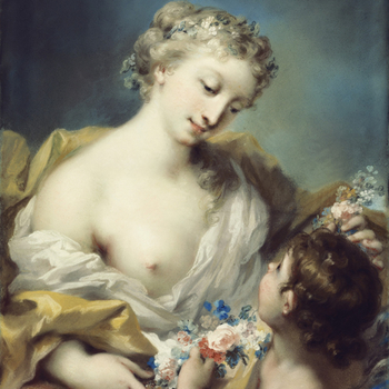 Rosalba Carriera's painting - A Personification of Spring
