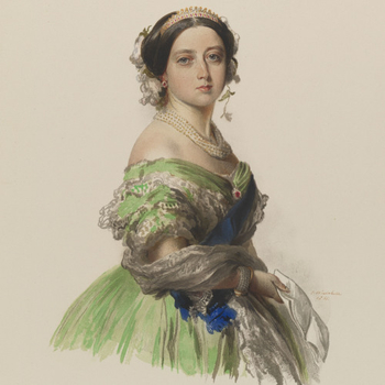 watercolour depicting Queen Victoria
