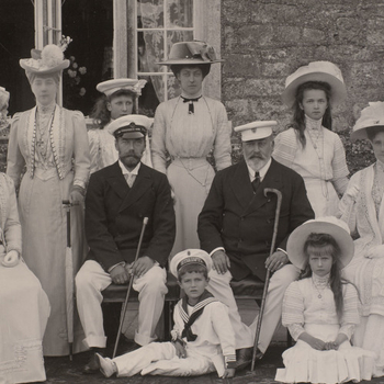 photograph of Russian and British royal families