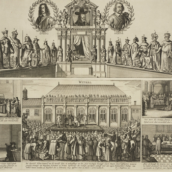 An engraving of The execution of Charles I