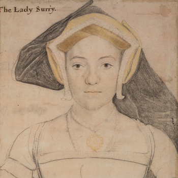 Drawing of a woman by Hans Holbein