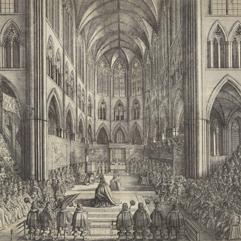 Image of the Coronation of Charles II by Wenceslaus Hollar