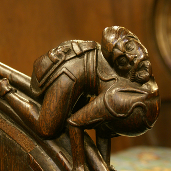 Close up of carving in St George's Chapel