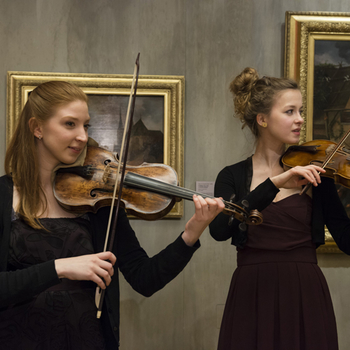 Royal College of Music students performing at The Queen's Gallery
