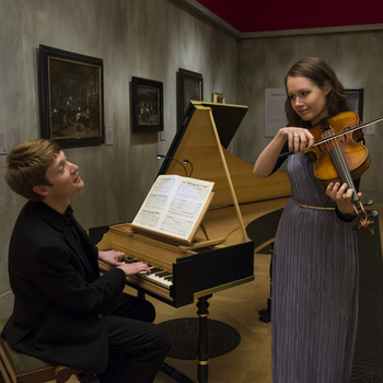 Image of students from Royal College of Music performing at The Queen's Gallery