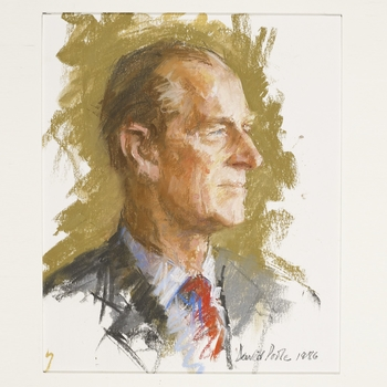 Oil painting of HRH The Duke of Edinburgh by David Poole, 1986