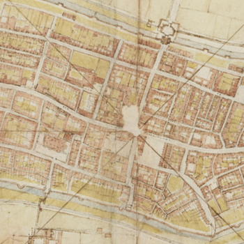 A map of Imola by Leonardo da Vinci
