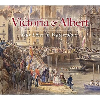 Victoria and Albert are greeted having arrived at St Pierre, Guernsey, with crowds lining the harbour