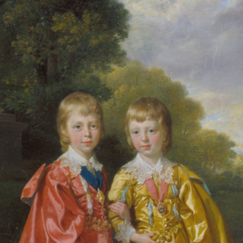 Preparatory oil sketch for 'George III, Queen Charlotte and their Six Eldest Children'