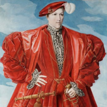 Detail of  portrait 'man in red'
