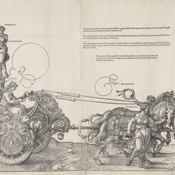 Deatil from Durer's Tirumphal Procession of Maximillian