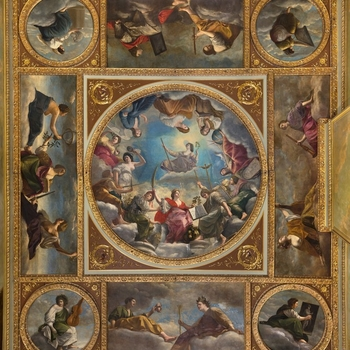 The ceiling panels of Marlborough House
