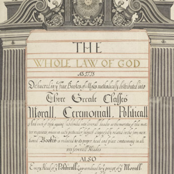 Detail from the title page of the Little Gidding Concordance