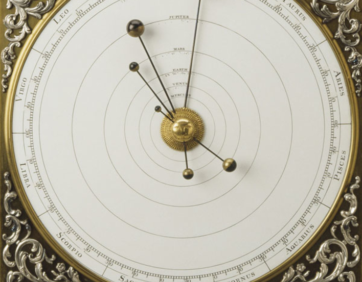 Detail of a clock face