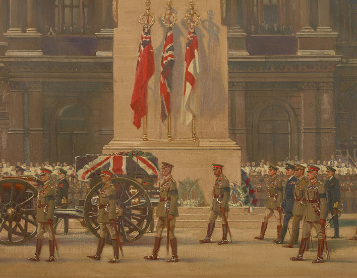 The Passing of the Unknown Warrior, King George V as Chief Mourner, Whitehall, 11 November 1920