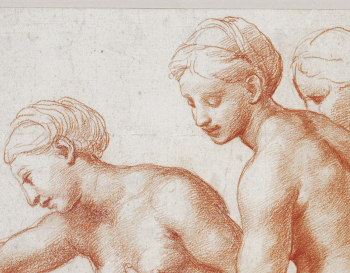 Detail from Raphael's The Three Graces