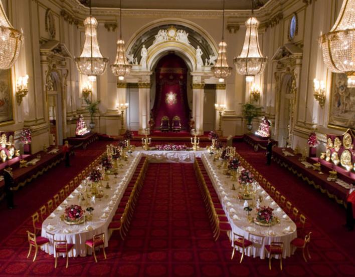Ballroom at Buckingham Palace