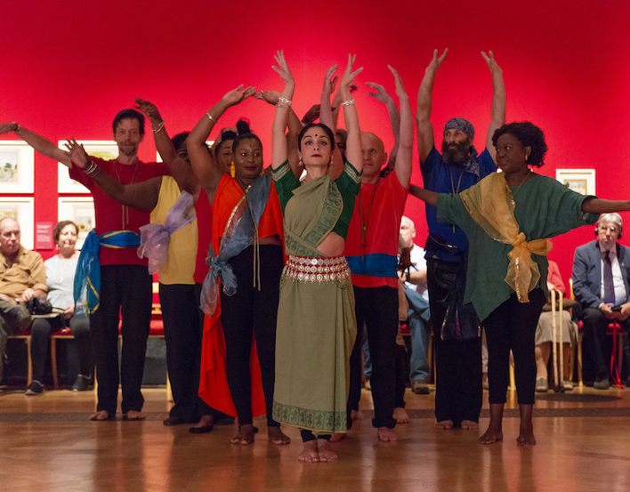 community group performing Indian dance