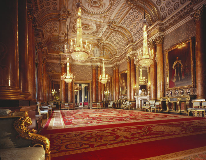 Blue Drawing Room at Buckingham Palace
