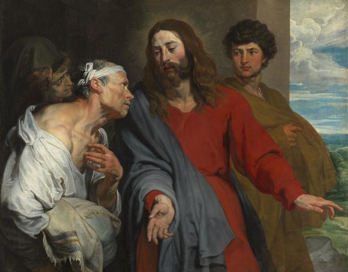 Anthony van Dyck painting 'Christ healing'