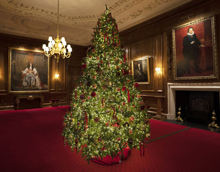 Christmas tree at the Palace of Holyroodhouse