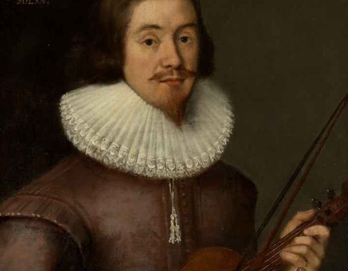 Portrait of David Rizzio holding a violin