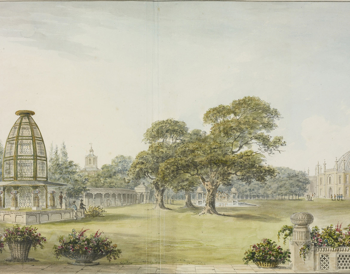Designs for the Pavilion at Brighton: 'The General View from the Pavillon'
