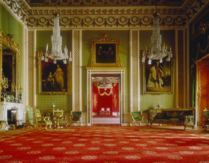 Green Drawing Room at Buckingham Palace