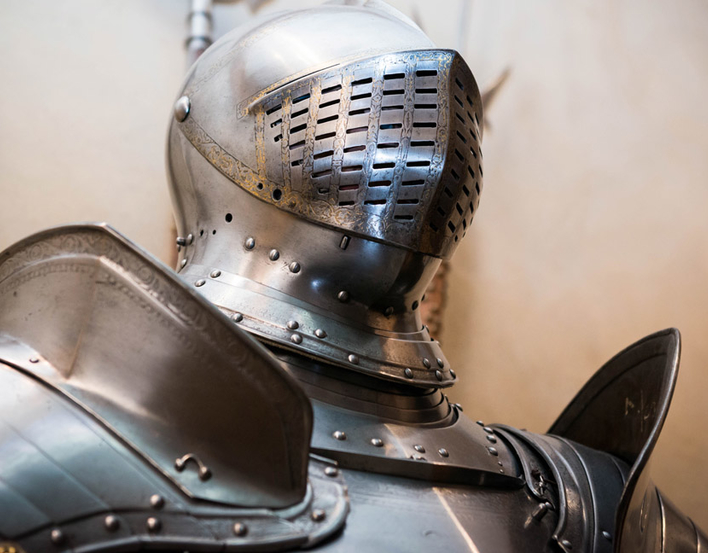 Helmet of Henry VIII armour garniture