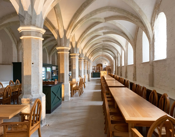 The new café in the Undercroft at Windsor Castle.