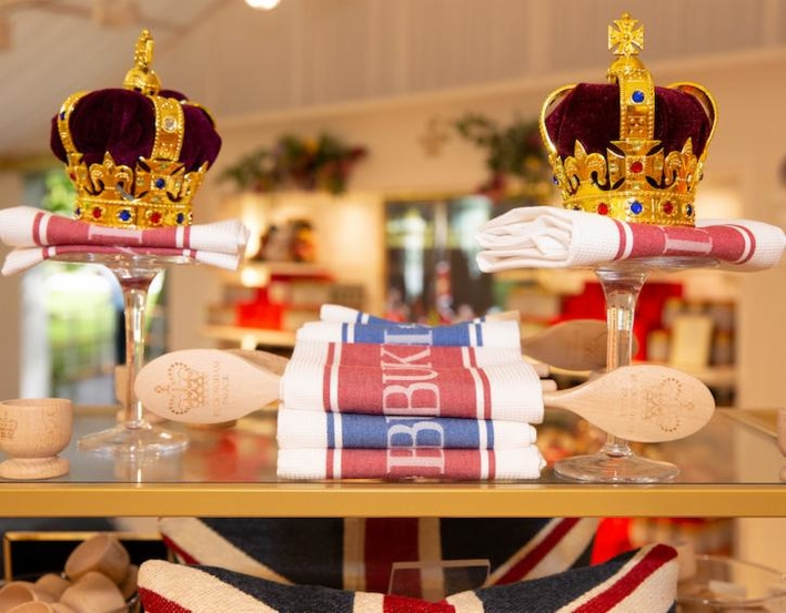 A display in the Buckingham Palace shop