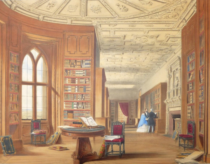 View of the Library at Windsor Castle