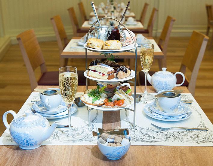 Afternoon tea at the Café at the Palace.