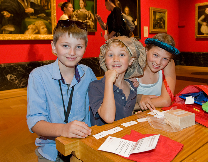 Children with Family Activity Bags at The Queen's Gallery