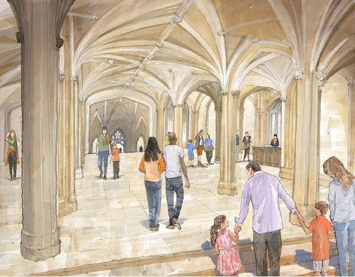 An artist's impression of the reinstated Inner Hall.