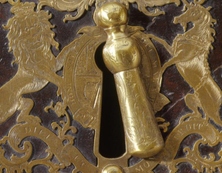 close up of door lock